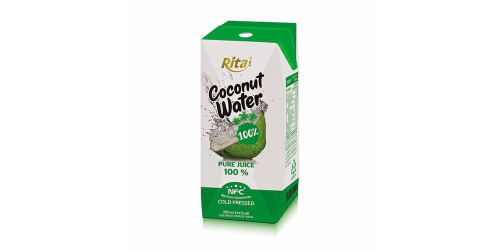 Paper box 200ml 100% Coconut Water