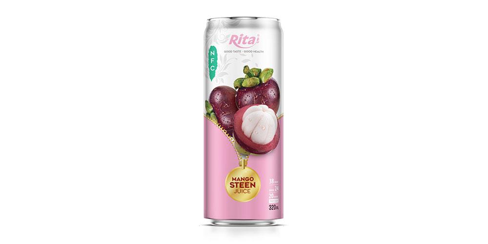 Mangosteen Juice Drink 320ml Can Rita Brand