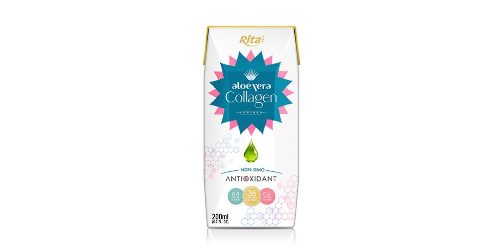 Aloe Vera With Collagen 200ml Paper Box Rita Brand