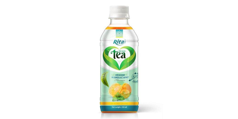 Vietnamese Tea Drink With Orange Kumquat Mint Flavor 350ml Pet Bottle Rita Brand